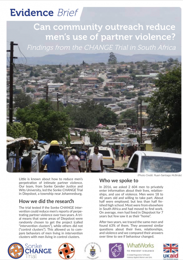 Can community outreach reduce men's use of partner violence? Findings from the CHANGE Trial in South Africa