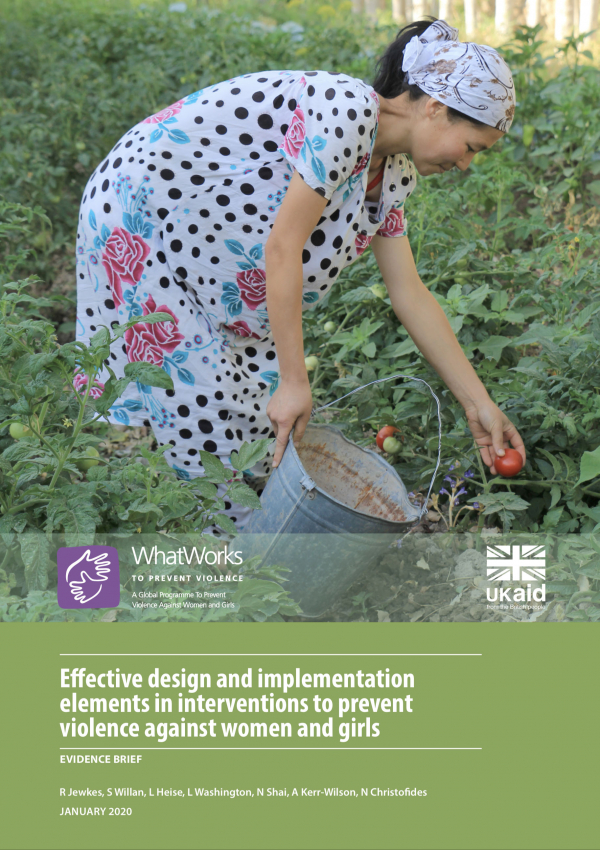 Effective design and implementation elements in interventions to prevent violence against women and girls - EVIDENCE BRIEF