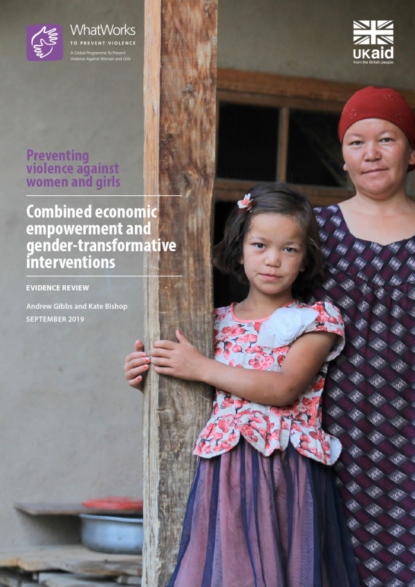 Combined economic empowerment and gender-transformative interventions
