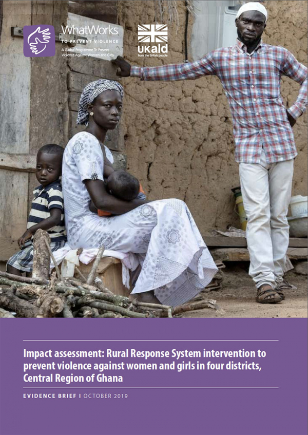 Impact assessment: Rural Response System intervention to prevent violence against women and girls in four districts, Central Region of Ghana