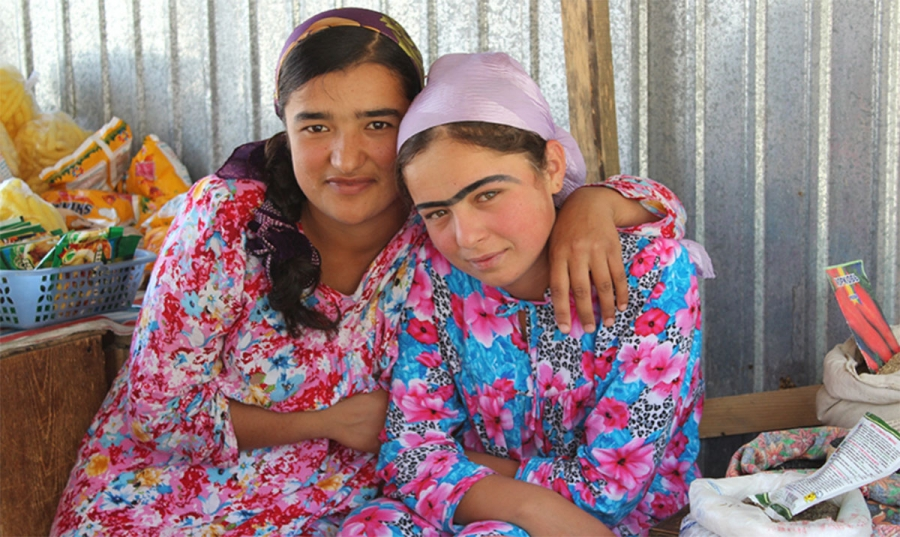 Two young women from the Zindagii Shoista project. Photo: Aziz Sattori.