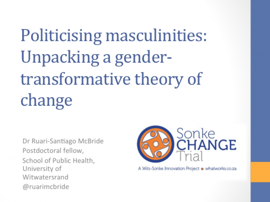 What Works Politicising Masculinities Unpacking A Gender