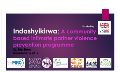 Indashyikirwa: A community based intimate partner violence prevention programme