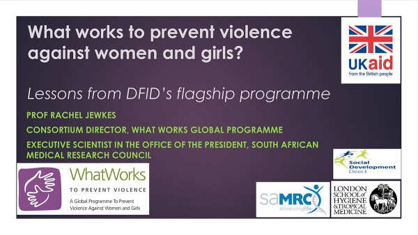 What works to prevent violence against women and girls? - Lessons from DFID's flagship programme