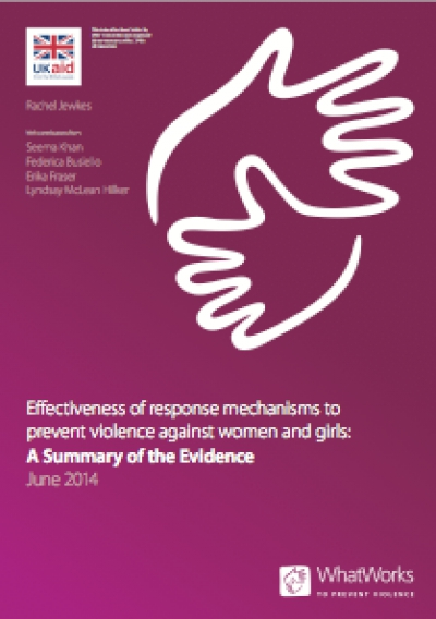 Effectiveness of response mechanisms to prevent violence against women and girls