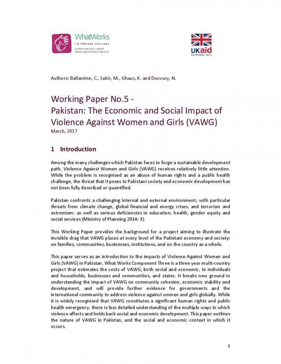 violence paper